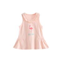 婴儿背心网眼夏装女童宝宝背心裙网眼薄款花边裙