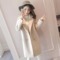 毛呢大衣秋冬款女2018新款小个子中长款森系学生外套呢子大衣加厚