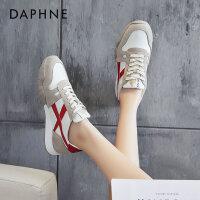 达芙妮复古阿甘鞋女鞋2021春季新款韩版拼色厚底休闲运动鞋女
