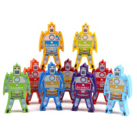 木制叠叠高百变机器人儿童早教益智玩具启蒙积木构建