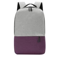 男女士商务背包电脑包15.6寸笔记本双肩包14寸时尚韩版大学生书包