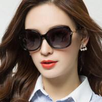 时尚新款近视眼镜网红复古方脸墨镜女 新款偏光太阳镜圆脸户外遮阳镜
