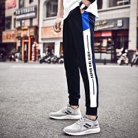 潮牌运动裤男长裤收口束脚短裤春秋季薄款国潮风男士跑步篮球裤