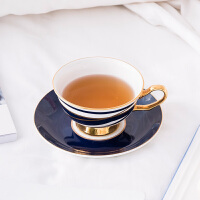 奇居良品 下午茶陶瓷茶具 柯比尔蓝色骨瓷咖啡杯碟套装