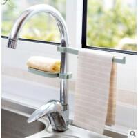 水龙头沥水置物架水池收纳架厨房用品水槽海绵抹布沥水架组合装