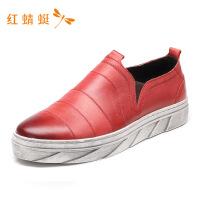 红蜻蜓男鞋春秋新款单鞋潮流时尚一脚蹬舒适百搭运动休闲鞋-