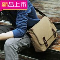 潮流男士包包单肩包斜挎包帆布包男背包休闲邮差包斜跨包学生书包