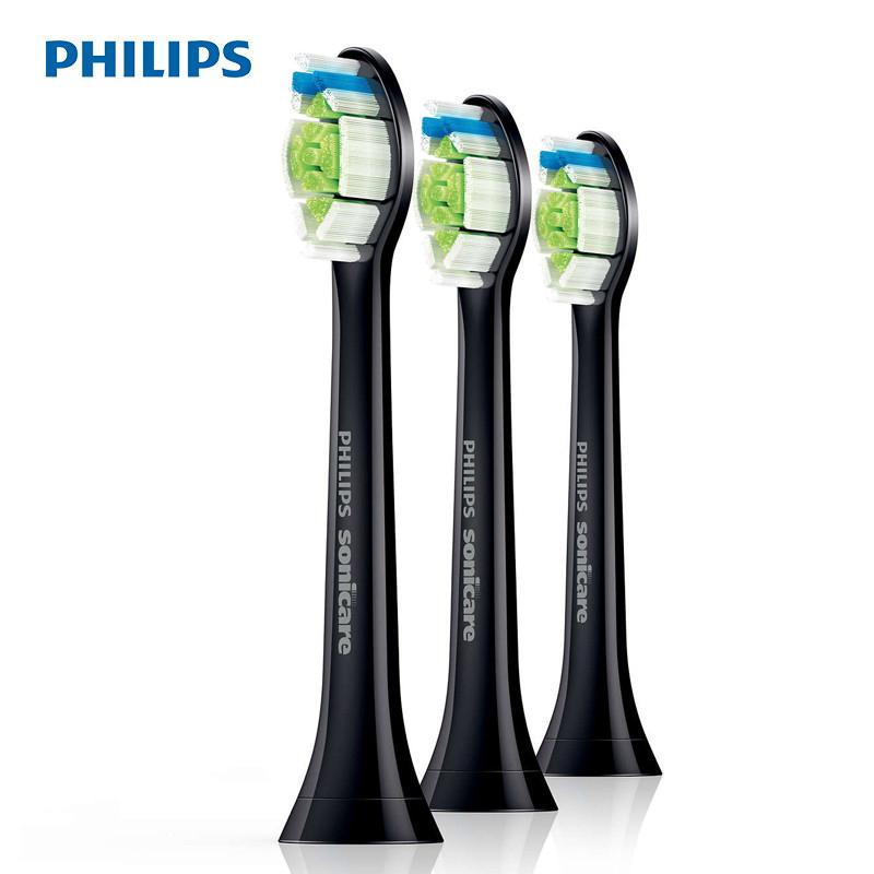 飞利浦 (PHILIPS) 电动牙刷头 3支装黑色 HX6063 适配HX6874 HX9352 HX9372 HX9392 飞利浦建议您,每3个月更换一次刷头!