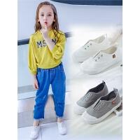 儿童帆布鞋宝宝鞋子男童板鞋女童布鞋中大童小白鞋