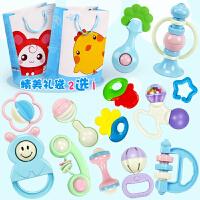 新生儿幼儿益智牙胶婴儿玩具0-3-6-12个月宝宝男女孩8手摇铃1岁5