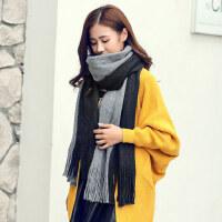 两用仿羊绒学生针织加厚保暖长款围脖围巾女韩版百搭披肩