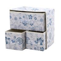 韩式收纳箱 收纳盒 两层三抽无纺布抽屉式收纳盒内衣袜子玩具整理箱收纳箱 热卖