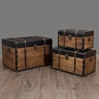 欧式复古创意大号实木箱子定做收纳箱整理储物箱带锁装饰品百宝箱 如图