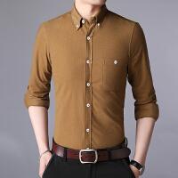 衬衫男士灯芯绒衬衫长袖新款英伦风复古青年衬衣潮