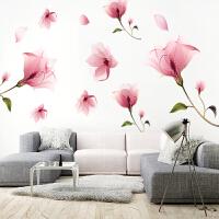 墙贴纸自粘创意卧室温馨浪漫粉色小清新少女心房间布置装饰品贴画