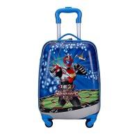 儿童行李箱小学生拉杆箱18寸万向轮旅行箱大人卡通登机箱可爱拖箱 白色 机器人