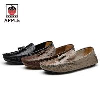 苹果APPLE时尚平底透气豆豆鞋