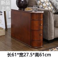 美式沙发边几角几实木边桌小茶几边角柜扶手柜欧式沙发边柜储物柜定制