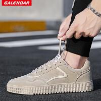 【限时特惠】Galendar男子板鞋2018新款简约百搭休闲板鞋男生系带平底校园板鞋QDN060