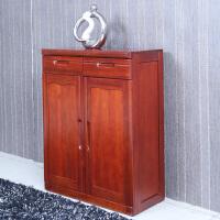 北欧风格家具新中式家具 全实木鞋柜海棠木门厅柜储物柜