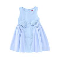 【2件5.5折价:148】小猪班纳童装女童裙子2020夏季新款儿童连衣裙背心裙吊带裙中大童