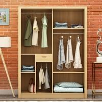 定制实木松木家具推拉移门衣柜两门三门组装衣橱储物柜 2门 组装