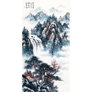 中国美术家协会理事、当代国画家、美术教育家 黎雄才《山水》DW182