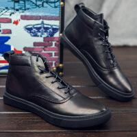 CUM秋冬新款高帮男鞋英伦休闲鞋时尚潮流青年皮鞋