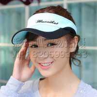 夏天户外男女士运动网球帽无顶太阳帽遮阳帽棒球帽子韩版潮空顶帽