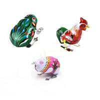 铁皮青蛙玩具小青蛙玩具儿童发条上链跳跳蛙小动物弹跳80后怀旧