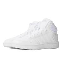 adidas neo阿迪休闲2018新款女子 HOOPS 2.0 MID 潮流运动篮球小白鞋休闲鞋B42099
