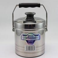 添发无磁不锈钢提锅双格饭兰多用饭桶加厚双层大容量提壶 16CM 带浅格 2.8L