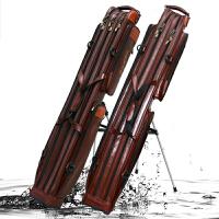 大拇指钓具 1.25米皮革防水渔具包二/三层钓鱼包带支架鱼竿包杆包