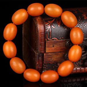 蜜蜡满蜡枣珠手串 直径13.5mm 重量23.37g