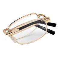 东海水晶老花镜男水晶折叠花镜女养目水晶老花眼镜石头镜架 2058 150度 折叠款
