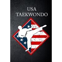 【预订】USA taekwondo: USA Tae Kwon do Martial Art Fan 6x9' Jou