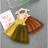 女童超洋气连衣裙夏装女宝宝公主吊带裙子婴儿女孩2夏天衣服1-3岁
