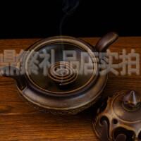 香炉檀香炉卧室内香炉香薰炉陶瓷盘香香炉香插香托香器 仿古熏