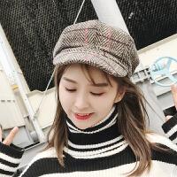 软妹八角帽女英伦蓓蕾贝雷帽女士秋冬季韩版日系百搭学生画家帽子 均码(56-58cm)