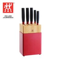 双立人Zwilling Now S系列刀具6件套菜刀多用刀刀架(红黑) K308