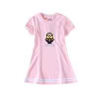 【2件5.5折价:54】小猪班纳童装女童连衣裙短袖2020夏季新款卡通印花