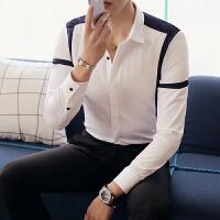 长袖衬衫村杉忖寸衫韩国西装衬衣男土帅气英伦风韩版修身潮流青年