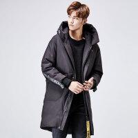yaloo/雅鹿羽绒服男 中长款2017新款正品韩版加厚保暖修身连帽外 YS6107710
