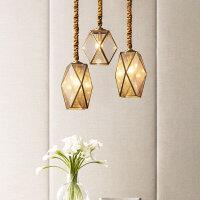 美式全铜餐厅吊灯过道灯走廊楼梯书房卧室个性创意简约灯具