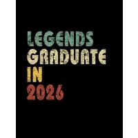 【预订】Legends graduate in 2026: Vintage Composition Notebook F