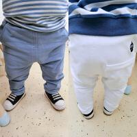 婴儿裤子春装女童打底裤1岁3个月男宝宝长裤休闲外出潮流裤