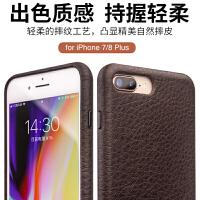 包邮支持礼品卡 iphoneX手机壳真皮苹果iphone7 plus 5.5 手机套 iphone8 plus 简约