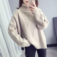 毛衣 女士时尚高领毛衣2020韩版新款女式休闲宽松套头衫学生慵懒风打底衫