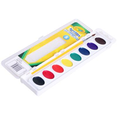 当当自营Crayola 绘儿乐 8色可水洗固体颜料 53-0525【当当自营】美国儿童绘画品牌