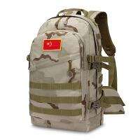 防水登山包旅行背包男户外双肩包旅游背包多功能包迷彩背包大容量 AC沙漠灰[都市] 标准版